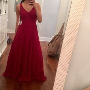 Beautiful Burgundy/Red Maxi Dress - size 4